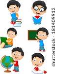 adobe,back,backpack,blackboard,board,book,boy,cartoon,chalkboard,cheerful,child,childhood,class,cute,educate