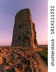 Small photo of 13th Century Hadleigh castle in Essex at sunset.