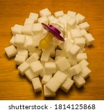 Pacifier On White Sugar Cubes