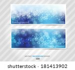 set banners abstract blurred... | Shutterstock .eps vector #181413902
