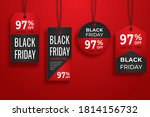 black friday realistic paper... | Shutterstock .eps vector #1814156732