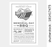 vintage usa memorial day... | Shutterstock . vector #181417475