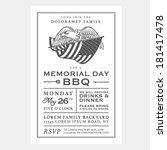 vintage usa memorial day... | Shutterstock .eps vector #181417478