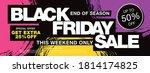 black friday sale banner layout ... | Shutterstock .eps vector #1814174825