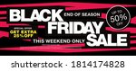 black friday sale banner layout ...   Shutterstock .eps vector #1814174828