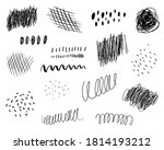 set of ink black brush strokes... | Shutterstock .eps vector #1814193212