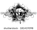 vector illustration human skull ... | Shutterstock .eps vector #181419398