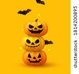 happy halloween. festive... | Shutterstock .eps vector #1814200895