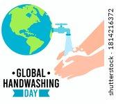 global handwashing day vector... | Shutterstock .eps vector #1814216372