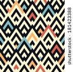 seamless raster geometric... | Shutterstock . vector #181423388