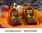 Halloween Tombstone Brownies