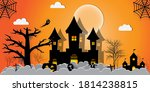 halloween night concept vector... | Shutterstock .eps vector #1814238815