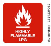 Highly Flammable Lpg Symbol...