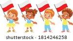 poland flag in hand. children... | Shutterstock .eps vector #1814246258