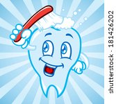 cartoon tooth with background | Shutterstock . vector #181426202