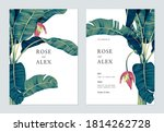 botanical wedding invitation... | Shutterstock .eps vector #1814262728