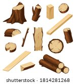 timber vector set with wood... | Shutterstock .eps vector #1814281268