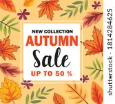 new collection autumn sale... | Shutterstock .eps vector #1814284625