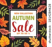 new collection autumn sale... | Shutterstock .eps vector #1814284628