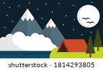 beauty night flat design... | Shutterstock .eps vector #1814293805