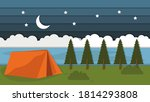 beauty night outdoor summer... | Shutterstock .eps vector #1814293808