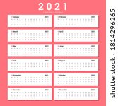 calendar 2021 alternative... | Shutterstock .eps vector #1814296265