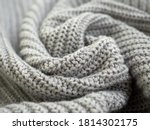 Knitted Warm Grey Sweater Or...