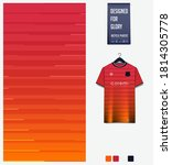 fabric textile design. orange... | Shutterstock .eps vector #1814305778