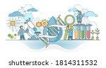 biotechnology or biotech dna... | Shutterstock .eps vector #1814311532
