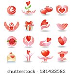 vector set with signs of love... | Shutterstock .eps vector #181433582