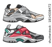 sneakers set fashion  vector... | Shutterstock .eps vector #1814338472