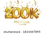 vector gold number 200 000 two... | Shutterstock .eps vector #1814347895