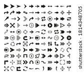 arrows icon set in flat style...   Shutterstock .eps vector #1814348705