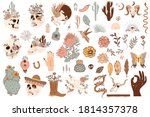 set of cute mexico and wild... | Shutterstock .eps vector #1814357378