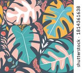 tropical seamless pattern with... | Shutterstock .eps vector #1814361638