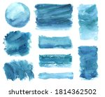 watercolor set of brushes and...   Shutterstock . vector #1814362502