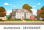 modern town house exterior real ... | Shutterstock .eps vector #1814364605