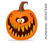 cartoon funny halloween pumpkin ... | Shutterstock .eps vector #1814375405