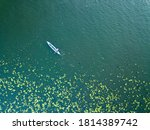 Kayak Boat In The Green Water...