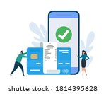 online pay  electronic bill... | Shutterstock .eps vector #1814395628