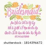 wedding font. typography... | Shutterstock .eps vector #1814396672