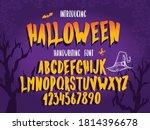 halloween font. typography... | Shutterstock .eps vector #1814396678