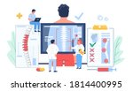 osteopathy session and...   Shutterstock .eps vector #1814400995