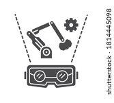 vr manufacturing black glyph... | Shutterstock .eps vector #1814445098