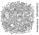 africa hand drawn cartoon...   Shutterstock .eps vector #1814448512
