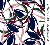 seamless tropical pattern with... | Shutterstock .eps vector #1814469635