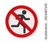 no running sign. jogging is... | Shutterstock .eps vector #1814487245