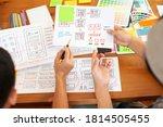 ux  ui designers draw website...