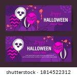 purple halloween holiday banner ... | Shutterstock .eps vector #1814522312