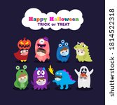 kids in halloween costume... | Shutterstock .eps vector #1814522318
